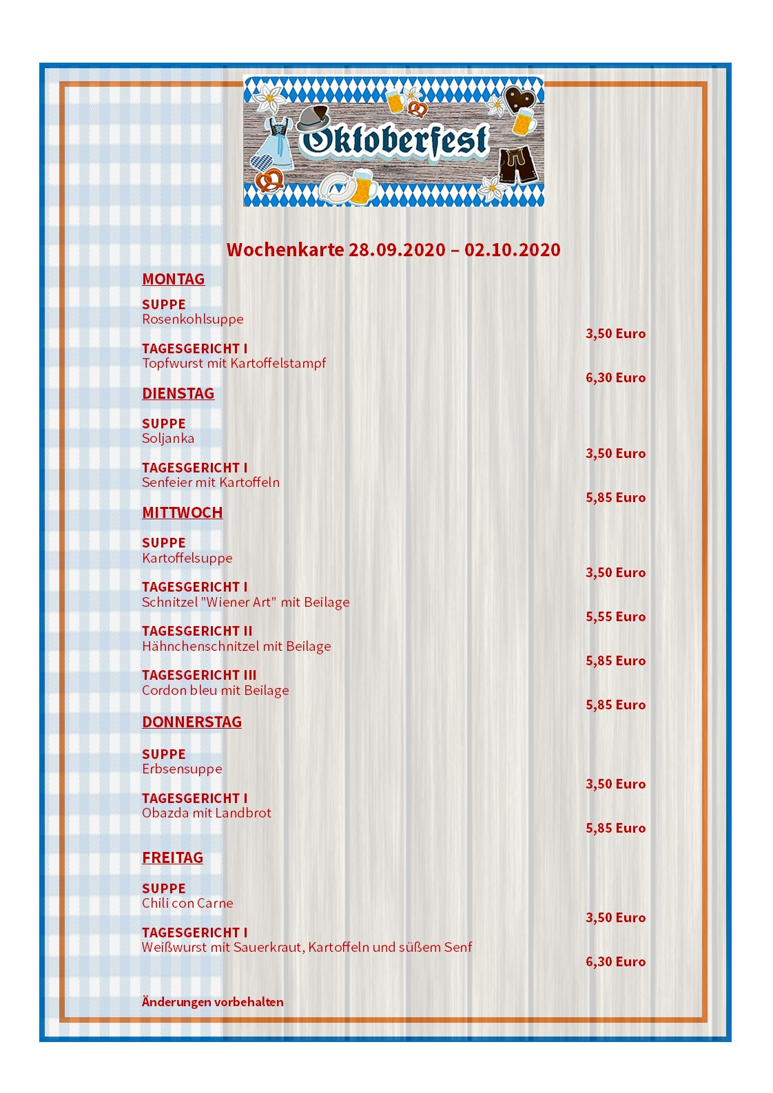 _Wochenkarte Oktoberfest KW40